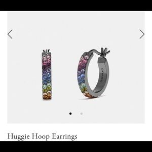 NWT Coach Huggie Hoop Earrings